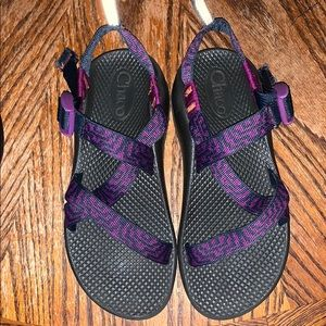 Purple and Navy Chaco's Size 4